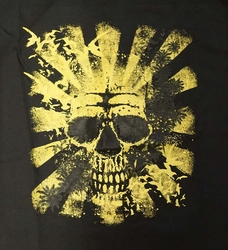 """T-shirt """" Summer skull """"  Zwart"""