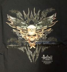 """T-shirt """" Duivel schedel """"  Zwart"""