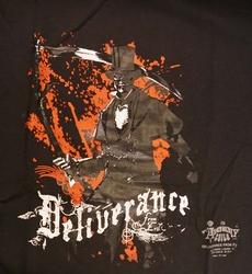 """T-shirt """" Deliverance """"  Zwart"""