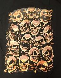 "T-shirt "" Skull red ""  Zwart"