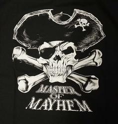 """T-shirt """" Master of mayhem """"  Zwart"""