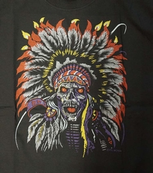 "T-shirt "" Indianen schedel ""  Zwart"