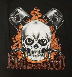 "T-shirt "" King of the road ""  Zwart"