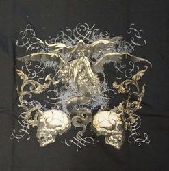 """T-shirt """"  Duivel met 2 schedels """"  zwart"""