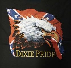 """T-shirt """" Adelaar op rebelvlag """"  Zwart"""