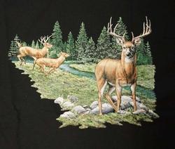 """T-shirt """" Herten """"  Zwart"""