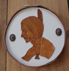 Decoratie indiaan met concho's