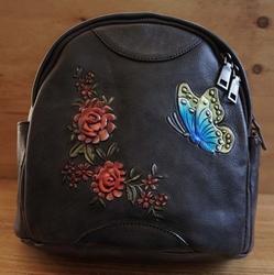 Dames rugzakje met vlinder + bloemen