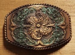 Old copper buckle