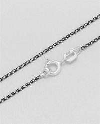 Zilveren ketting zilver / zwart
