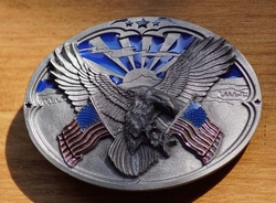 """Siergesp  """" Adelaar + 2 Amerikaanse vlaggen """""""