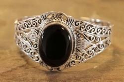 Brede zilveren klemarmband