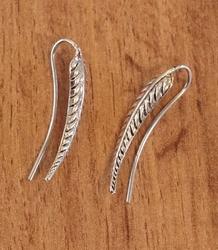 Zilveren doorsteek oorbellen