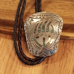 Sterling zilveren indianen bolo tie