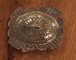 Sterling zilveren indianen buckle