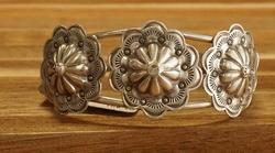 Sterling zilveren indiaanse klemarmband