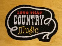Country & western strijkapplicaties