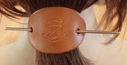 Leren haarspelden diverse