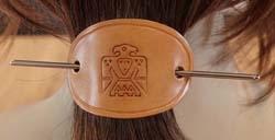 Leren haarspelden indianen
