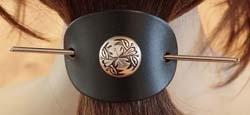 Leren haarspelden studs / concho's