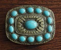 Turquoise steen buckles